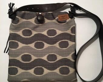 Handmade cross body satchel