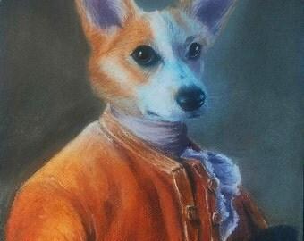 Custom portrait 30x40cm animal human bust / pastel