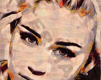 Miley Cyrus Art Print - Oil Painting Poster  LFF0129