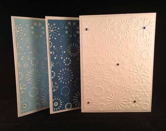 Set of 5 Snowflakes #1 CLASSIC Winter Cards