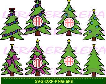 60 % OFF, Christmas Tree SVG, Christmas Monogram Frame SVG, Christmas Tree Monogram, Silhouette, Digital Cut File, Eps, Dxf, Ai, svg Files