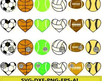 60 % OFF, Sport Ball SVG, Ball svg, Sport Ball Monogram svg, Sport Ball files Svg, Dxf, Png, Eps, Silhouette Studio, Cricut_Instant Download