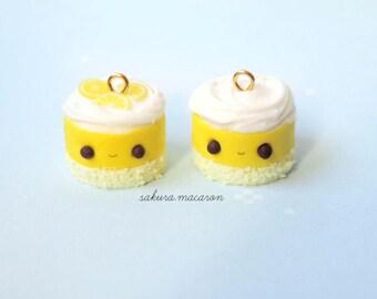 kawaii lemon merengue pie charm