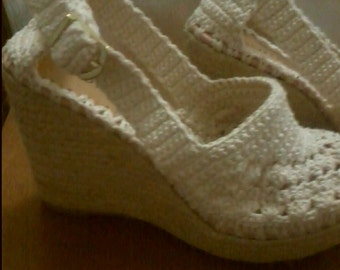 Crochet  sandals - women crochet sandals, made to order, crochet sandals