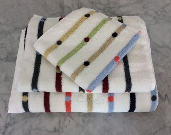 Dots N Dash Turkish Bath Towels