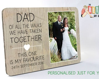 Walk with Dad, Custom Photo Panel, Wooden Photo Panel, Wedding Thank You, Father of the Bride Gift, Parents Wedding Gift