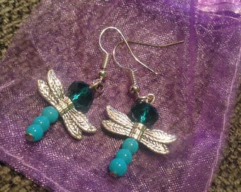 Hand made Dragonfly earrings