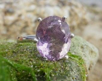 Ametrine ring. Ametrine Gemstone and Sterling silver 925. Silver ring with natural Ametrine