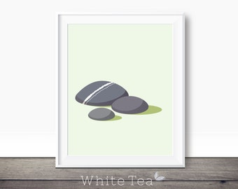 Zen wall art, minimalist printable art, three pebbles, minimalist wall decor, stone decor pebble artwork, zen pebbles art, modern art print