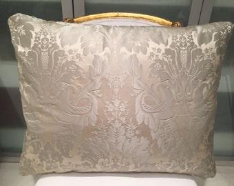 20x25 silk damask pillow with stuffer