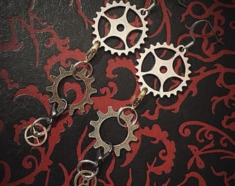 Detachable Steampunk earrings