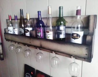 Custom built wine rack