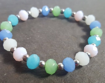 Beaded Glass Single Pastels Bracelet