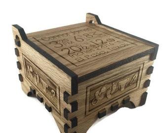 Baby Keepsake Box - Birth Stats - Baby Gift - Custom Baby Box Birth Announcement - Keepsake Box - Baby Memory Box - Personalized Box