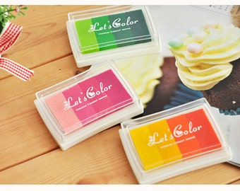 1 Pcs Graduated Colors Ink Pad Rainbow Ink Pad