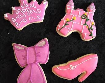 Princess Sugar Cookies- 1 Dozen