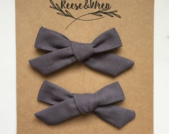 Charcoal Bow Twin Pack