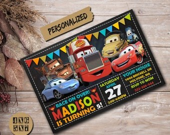Cars Invitation / Cars Birthday Invitation / Cars Birthday / Cars Party / Cars Invite / Cars Printable / Cars Card / Cars Birthday Party