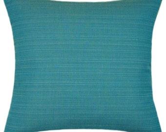 Sunbrella Dupione Deep Sea Indoor/Outdoor Pillow