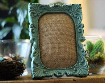 5*6 cussion frame made with burlap/ wedding gifts / mothers day/ bridesmaid