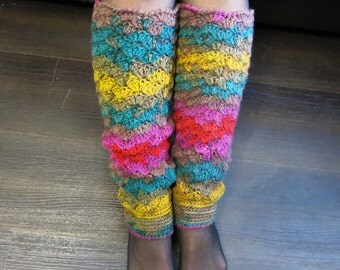 SALE 20% off Knit leg warmers Warm winter Hand knit leg warmers Colorful socks Women's leg warmers Ready her gift Boot Cuff Leg Warmers Knee
