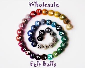 25 pieces - 3cm FELT BALLS - Beads 3cm 30mm (1.18 inch)