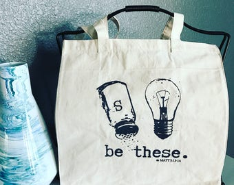 Canvas shopping tote/Market tote