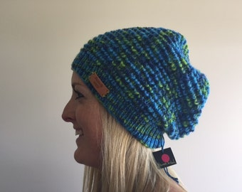 Pure wool slouchy in bright blues