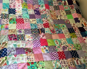 Princess girl patchwork quilt // children // birthday// gift // magical // fairies // fantasy
