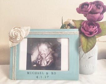 Baby picture frame, personalized baby gift, new baby gift, baby gift, new mom gift, baby frame, new grandma gift, ultrasound frame,