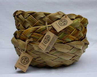 Handwoven baskets from Coco Palm fronds