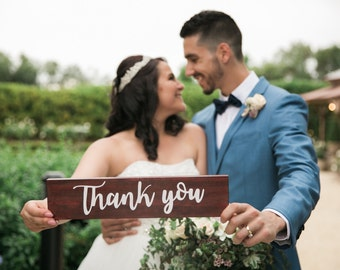 Wedding sign   wood Thank you sign