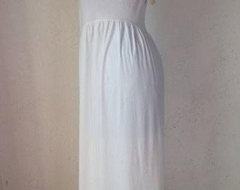 90s Petticoat Vintage | Vintage white petticoat | Long petticoat | 90s vintage petticoat/slip Made in Italy
