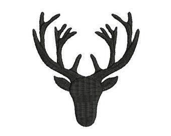 Buck Deer Embroidery Design Fill Deer head Machine Embroidery Instant Download ER1025F