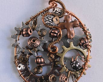 Steampunk Industrial Pendent