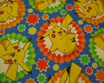 SHIPS FREE in usa  Pokemon Fabric - Pikachu Cartoon Characters