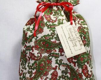Cloth Gift Bags Fabric Gift Bag Christmas Holiday Medium size Handmade Gift Bags
