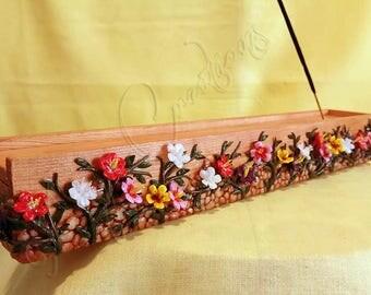 Flower incense burner case