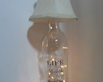 Wine Bottle Battery Operated Lamp Light