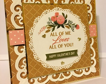 Valentine's  Day Card|All of Me|Flora No 1 Collection