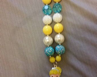 Cinderella inspired child's chunky bead necklace