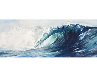 Wave, Watercolor Print, Watercolor Wave, Ocean Art, Beach House Decor, Surf Art, Wall Art
