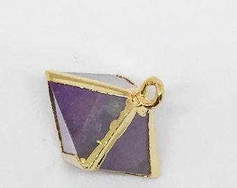 Purple Flourite Prism Pendant