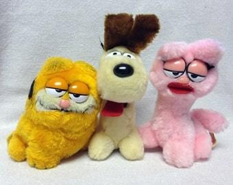Vintage Garfield and Friends ~Garfield, Odie and Arlene~ Plush