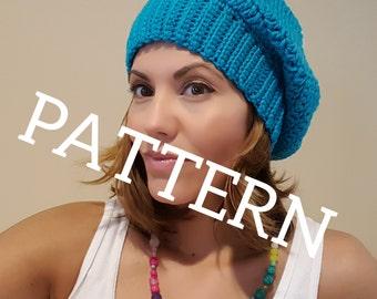 Super Slouchy Crochet Beanie PATTERN