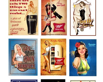 scale bar beer pin up posters