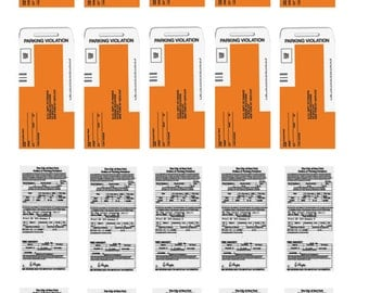1:25 G scale New York City parking citation tickets