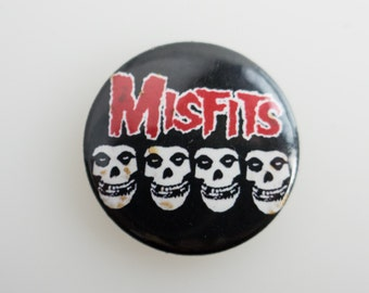 "Misfits - 1"" Pin Back Punk Button Badge"