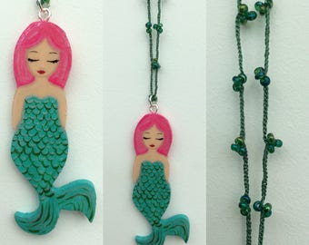Mermaid necklace at crochet necklace zoownatas