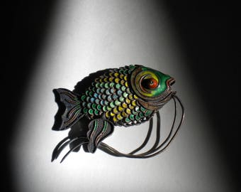 Enamel Fish Articulated